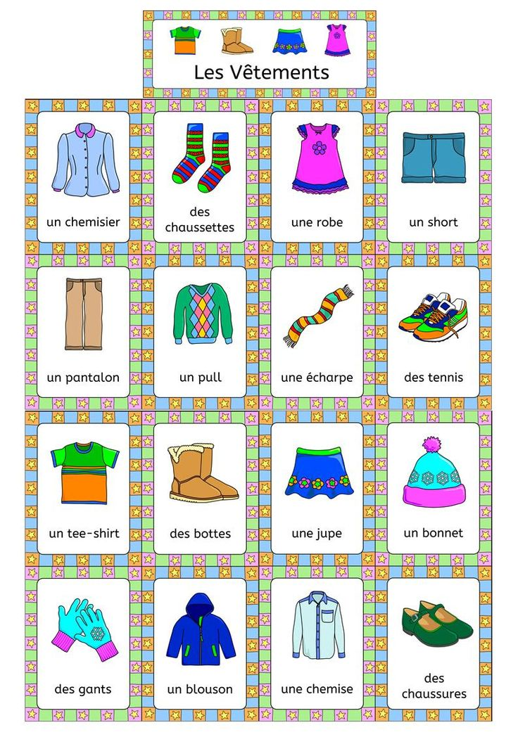 French clothing les vetements activities puzzles games and more more fr - Les vetements d hiver ...