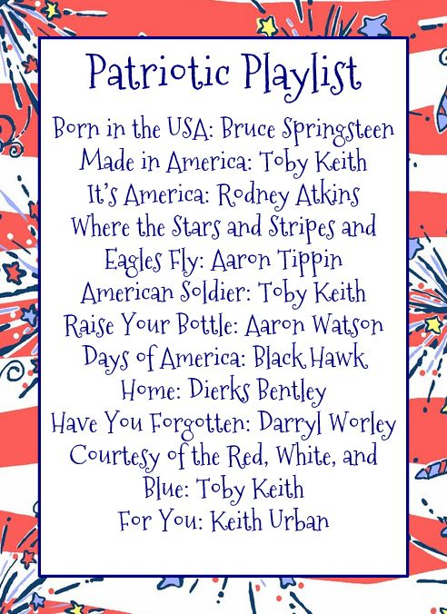 best 4th of july songs 2012