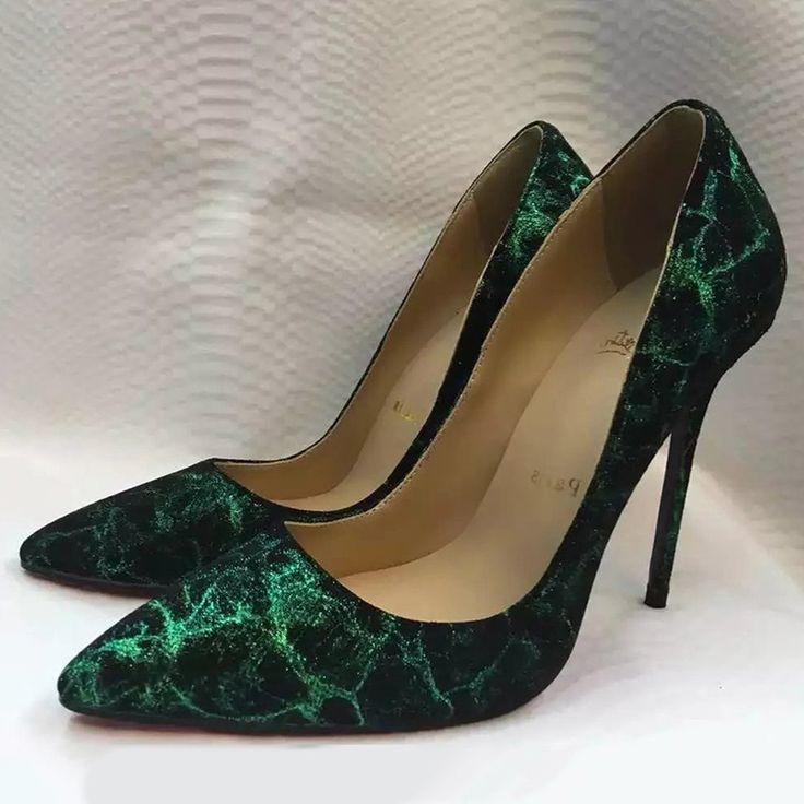 Shoespie Luxurious Green Court Shoes