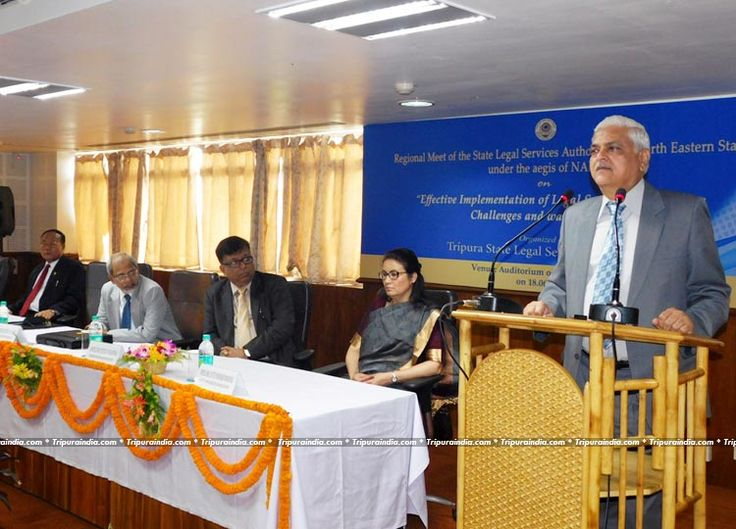 Judge of Supreme Court- Justice Anil R. Dave also Executive Chairman of NALSA during inaugural session of Regional meet of NE states at Tripura High Court Auditorium Agartala on 18 June 2016 http://www.tripuraindia.com/