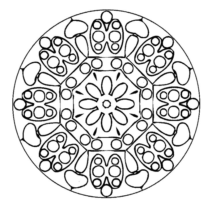 Printable Mandala Coloring Pages Hard Ville