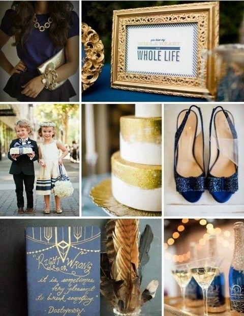 Inspiration mariage bleu marine et or