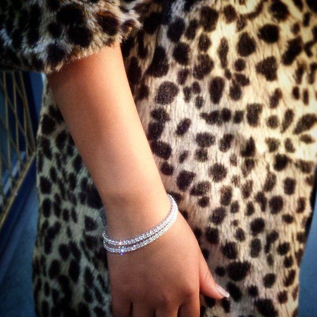 Diamond Tennis Bracelet. Simple yet beautiful. Pretty, Polished and Professional ❤️.