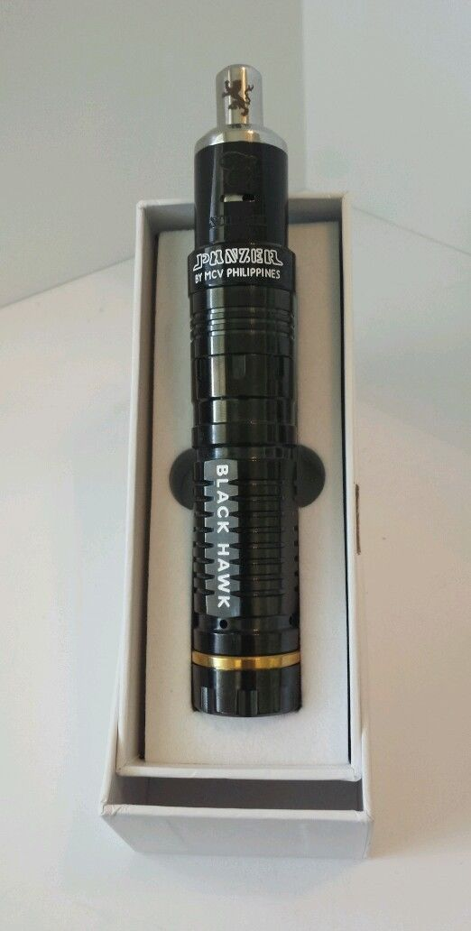 #whichecigarette Check out our reviews on http://www.whichecigarette.com/review-cats/premium-ecigarettes/  Panzer Mechanical Mod Black Hawk Black Stillare Atomizer Top Quality | eBay