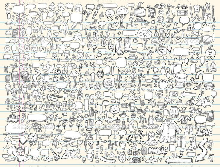 Depositphotos 6441462 Notebook Doodle Sketch Design Elements Vector Illustration