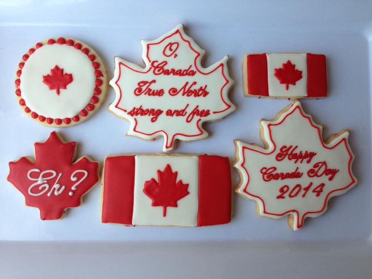 Canada Day Cookies 2014