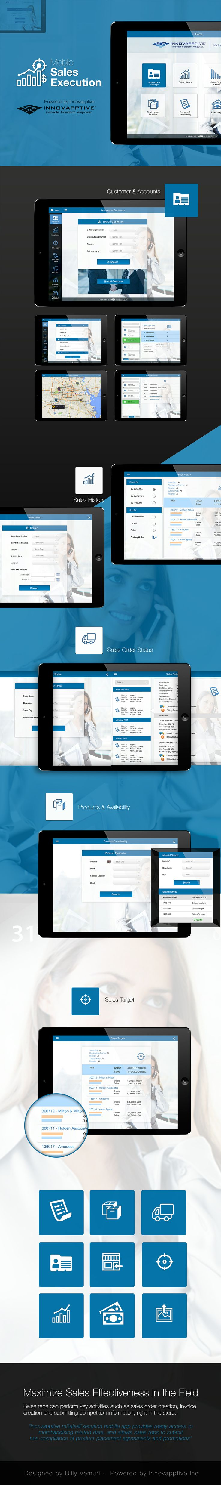 Mobile Sales Execution App - mSalesX - designed by Billy Vemuri -  Powered by Innovapptive Inc.