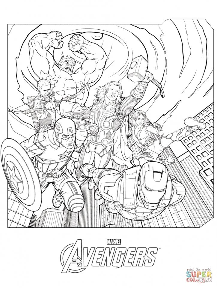 Avengers Coloring Pages Marvel Superheroes 89531 Avengers