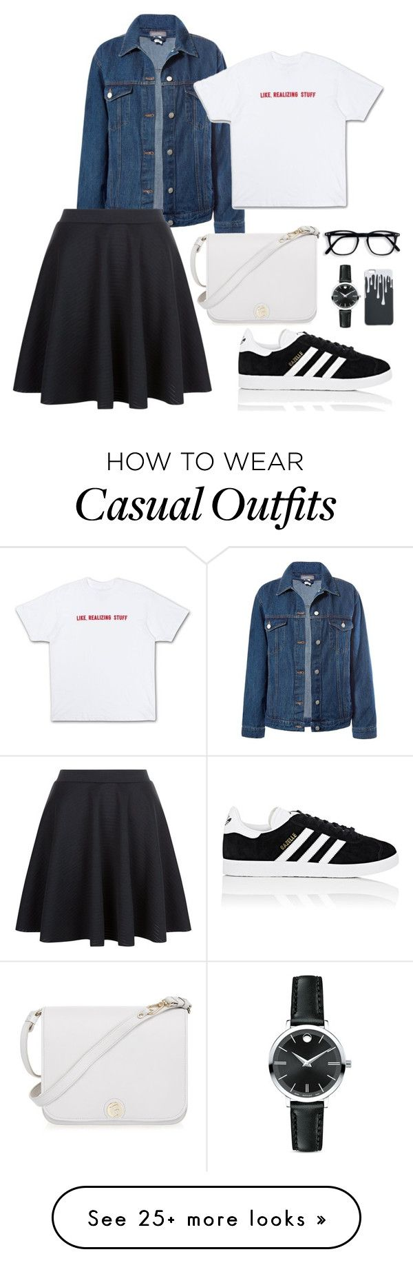 """""""Casual"""" by krstnfth on Polyvore featuring Sans Souci, adidas, Furla and Movado"""