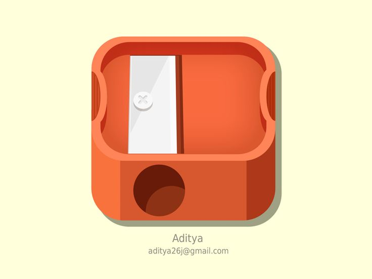 Sharpener ios icon by Aditya Chhatrala