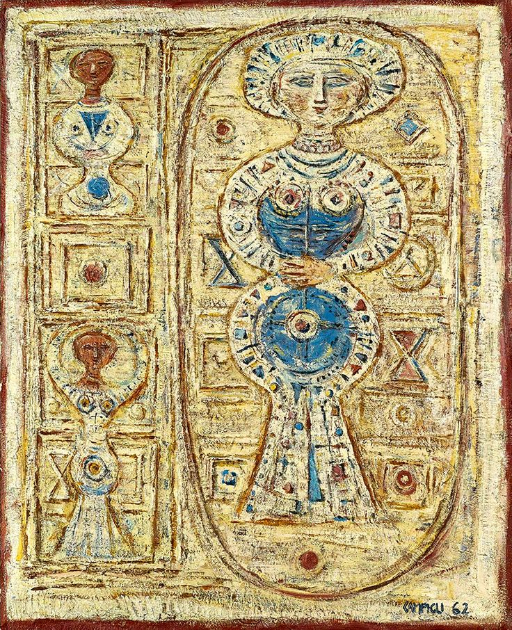 """Campigli Massimo - Idolo 1962 Sotheby (from <a href=""""http://www.oldpainters.org/picture.php?/50596/category/16622""""></a>)"""