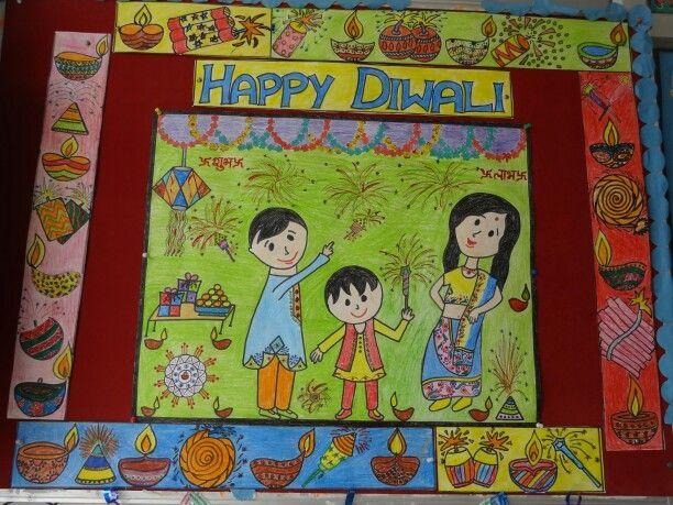 Classroom Door Decoration Ideas For Diwali ~ Happy diwali school softboard says pinterest