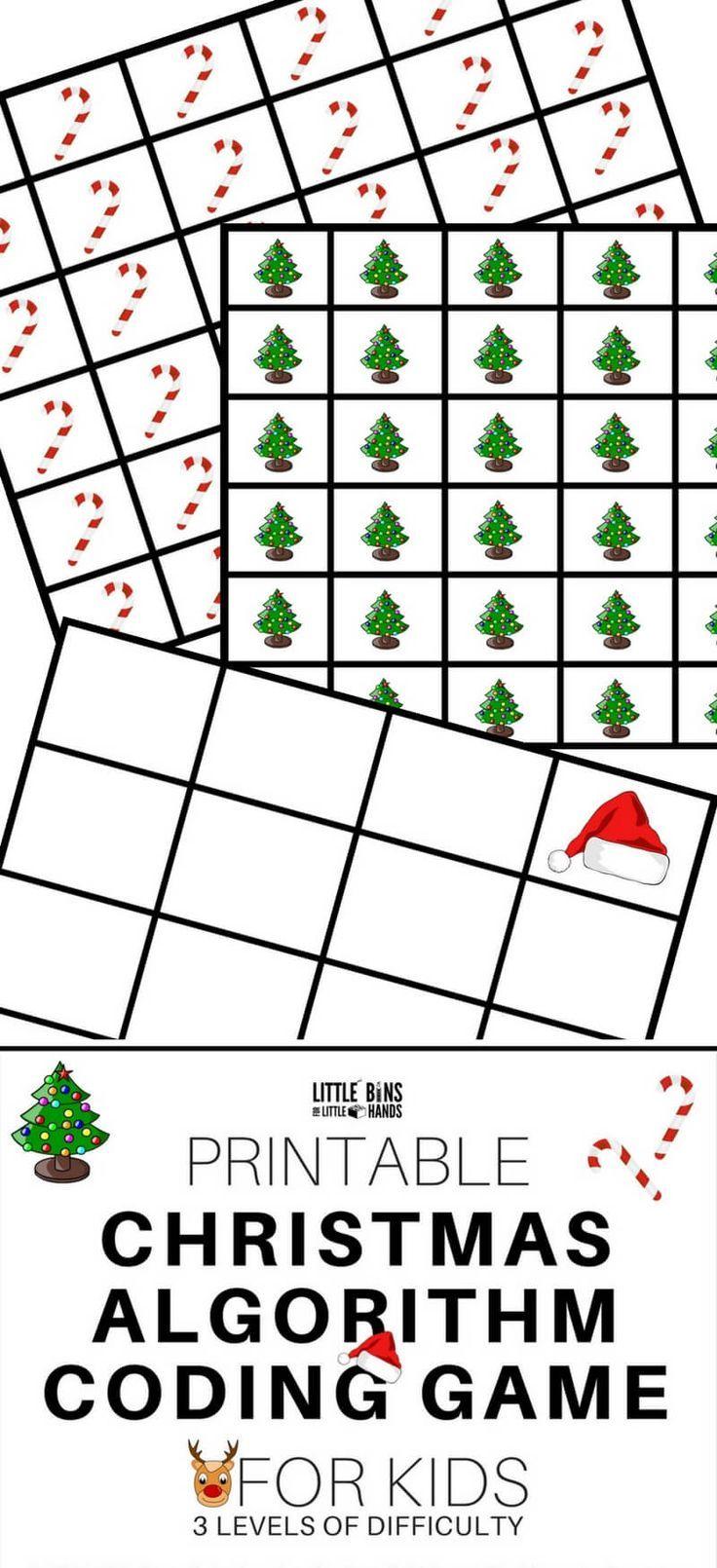 Free Printable Christmas Coding Stem Activity Game For Kids Christmas Stem Activities Coding For Kids Activity Games For Kids [ 1610 x 736 Pixel ]