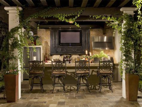 55 Patio Bars + Outdoor Dining Rooms   Outdoor Design - Landscaping Ideas, Porches, Decks, & Patios   HGTV