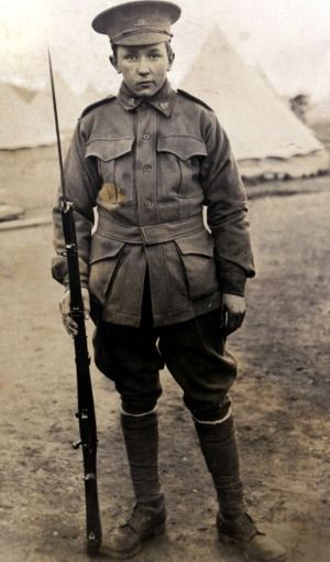 Alec Campbell, aged 16, before heading to Gallipoli. Article: Gallipoli 100 years, the last Anzac.