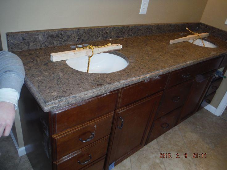 kimbler silestone quartz vanity install for the harris family knoxvilles stone interiors showroom located