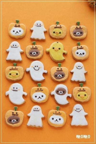 リラックマクッキー*ハロウィンアイシングクッキー第2弾 : momo's obentou*キャラ弁