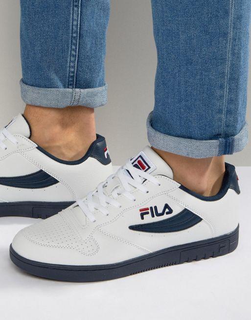 promo code 25688 858b7 Zapatillas de deporte de perfil bajo FX-100 de Fila Blanco Hombre   zapatos  y ropa de mujer en 2019   Pinterest   Sneakers, Vintage shoes men y Fila  casual ...