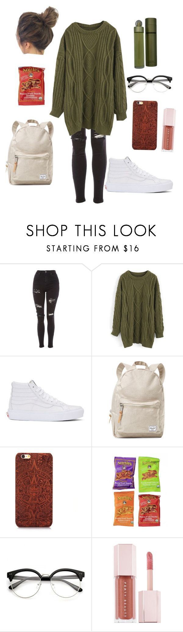 """Fall#3"" by haley-hetrick on Polyvore featuring Topshop, Chicwish, Vans, Herschel Supply Co., Puma and Perry Ellis"