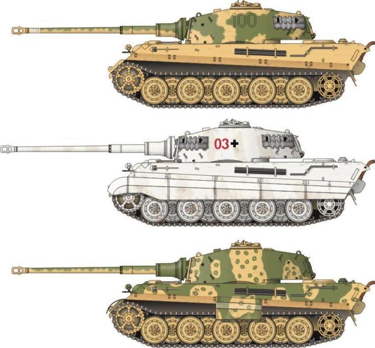 German King Tigers Konigtiger