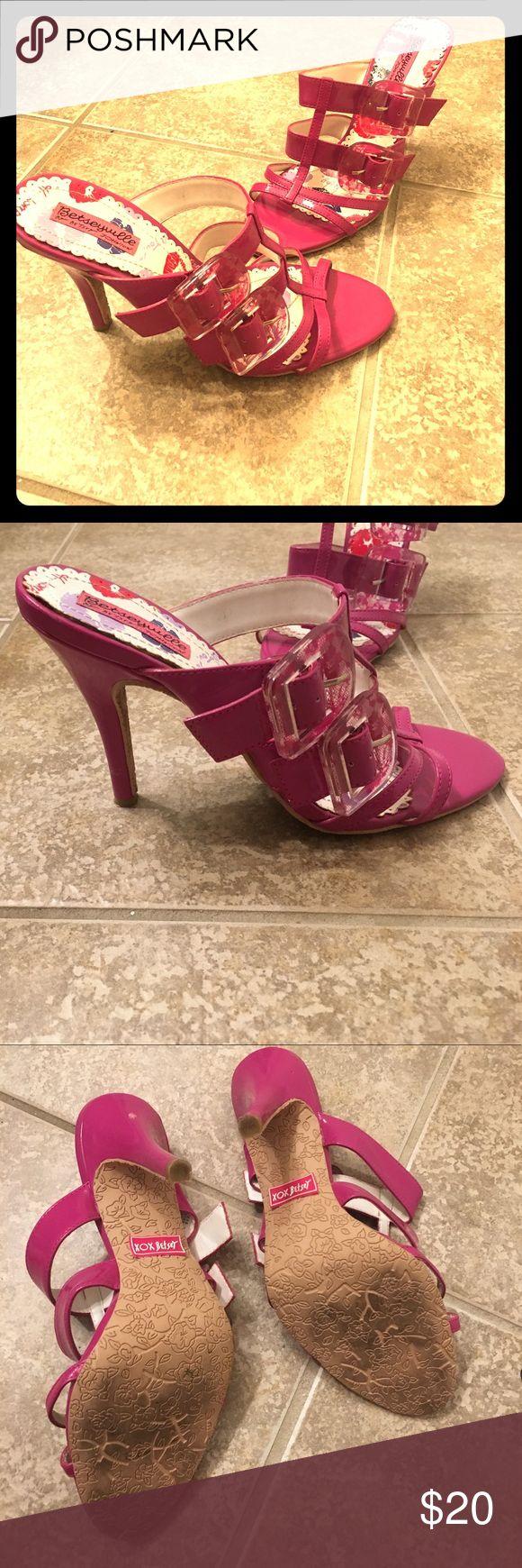 Fuchsia heel sandals Betsey Johnson Fuchsia purple heels by betsey johnson. Betsey Johnson Shoes Heels