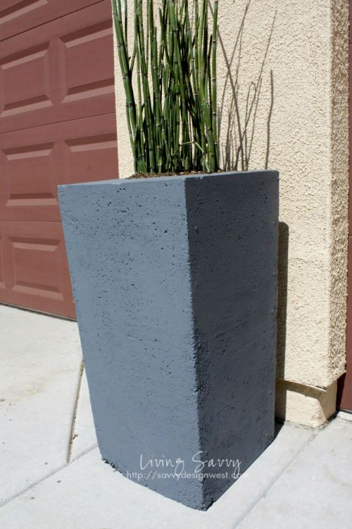 Living Savvy: How To | Make A Concrete Planter