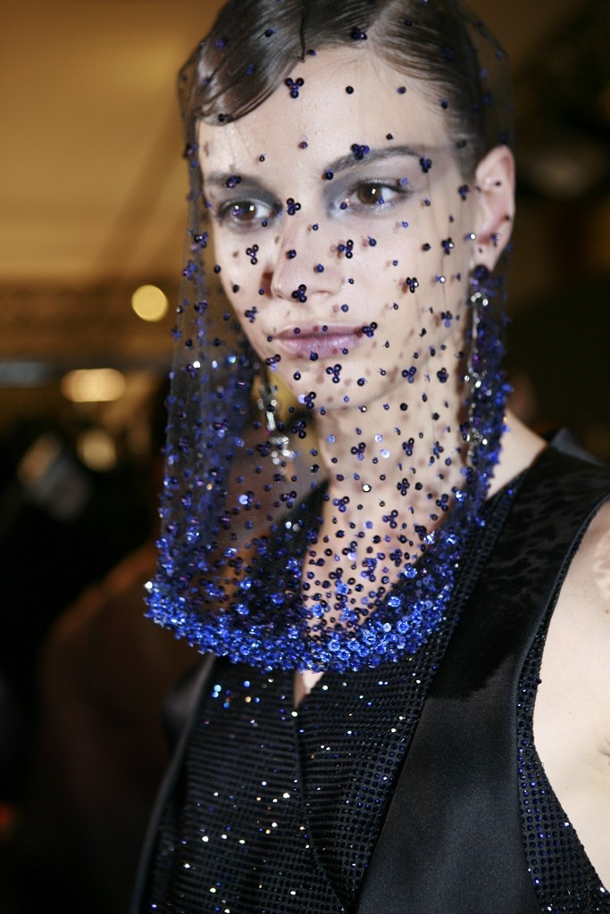 Backstage at Armani Privé Fall Couture 2012