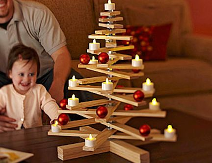 Make a Nuts-and-Bolts Christmas Tree  Add contemporary style to your holiday decorating with this easy-to-make Christmas tree. The Scandinavian-inspired design uses pine craft boards and hardware to create moveable branches you can customize.