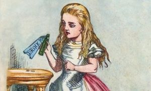 'Sometimes a bottle is just a bottle,' Alice didn't say.