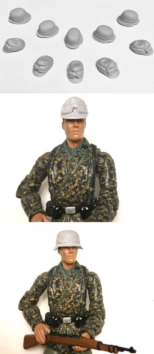 58c98022a Other Military Models and Kits 1191  5 German Helmet 1 18 Ww2 + 5 Cap For  Soldiers Figures 3.75 -  BUY IT NOW ONLY   25 on  eBay  other  military   models ...