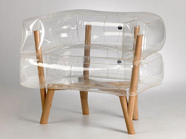 Надувное кресло на ножках