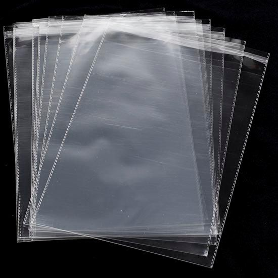 100 10x13 1.5 Mil Clear Self Seal Poly Bags by TheShippingGuru