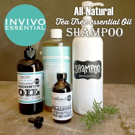 DIY recipe for all natural tea tree oil shampoo #invivoessential