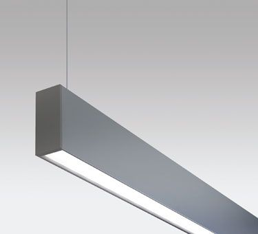 """LINIA  A linear architectural luminaire featuring a sleek 2"""" extruded aluminum profile. This elegant pendant is a direct and indirect LED solution and a perfect complement to new and existing design interiors."""