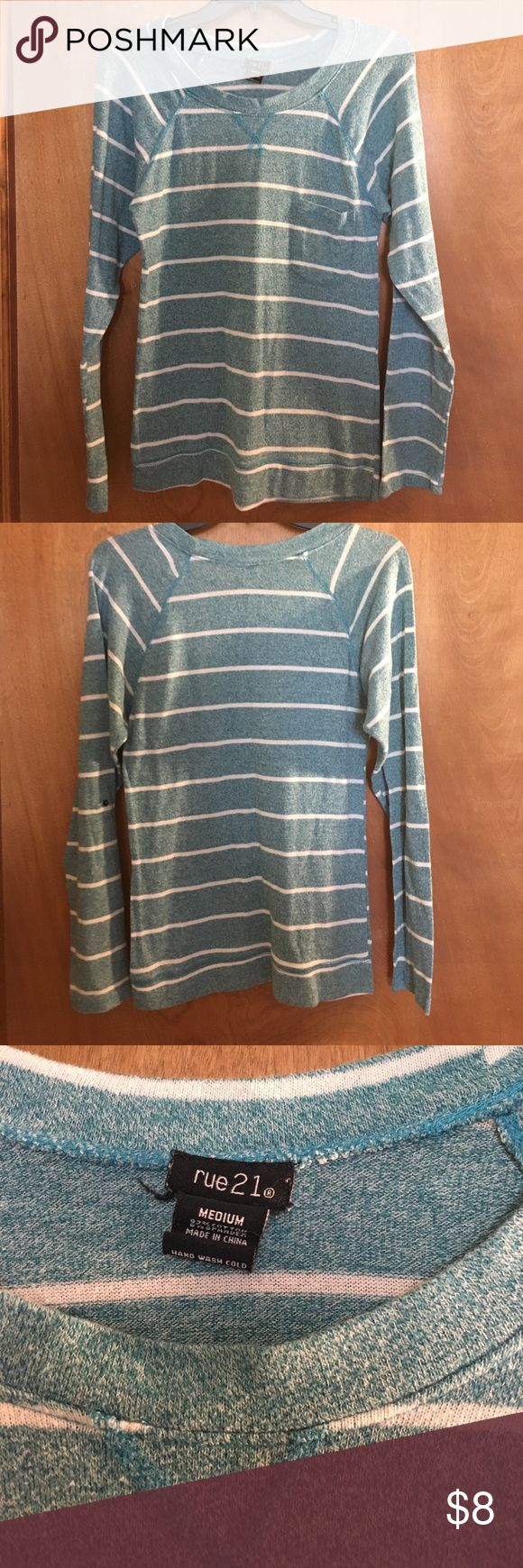 Rue 21 top Blue and white stripped light sweater. Rue21 Sweaters Crew & Scoop Necks