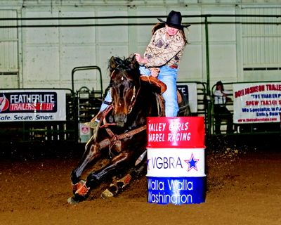 Best way to teach a horse to complete its barrel turns....