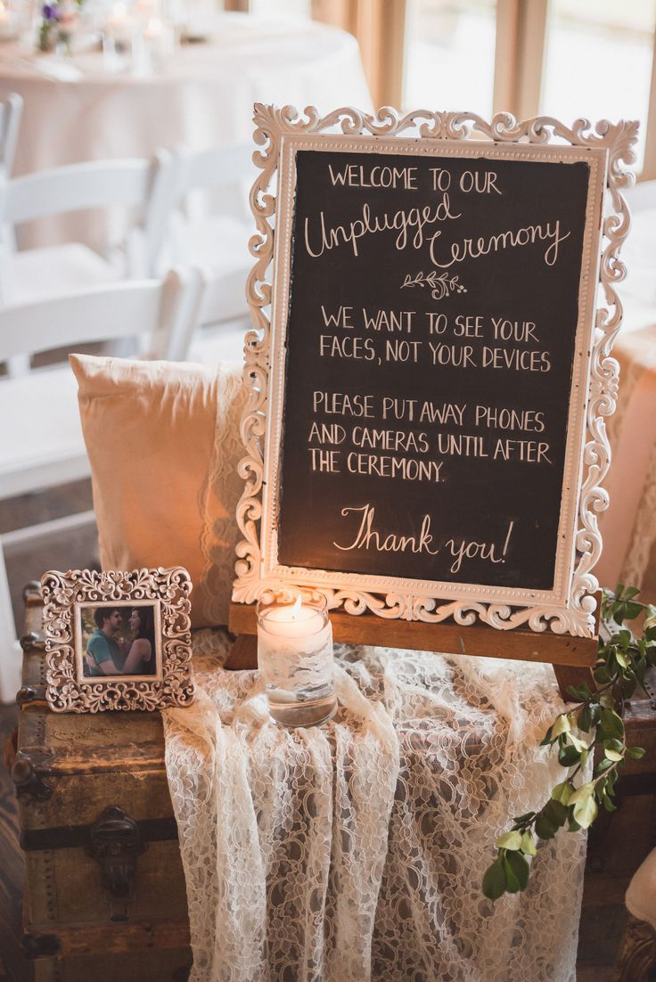 Unplugged ceremony sign | Hand Lettered Love by Bev | Matt Kennedy Photography