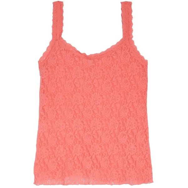 Plus Size Women's Hanky Panky 'signature' Lace Camisole ($56) ❤ liked on Polyvore featuring plus size women's fashion, plus size clothing, plus size intimates, plus size camis, peachy keen, plus size, women's plus size camisoles, plus size camisoles, lace camis and plus size cami
