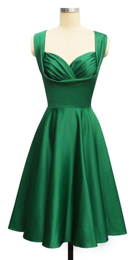 emerald green 50's dress; gorgeous!!!