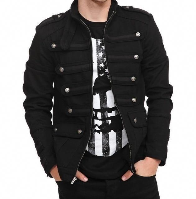 49187f56451 Casual Men Outerwear Plus Size Gothic Military Parade Jacket Tunic Winter  Autumnliilgal  MensFashionStyle