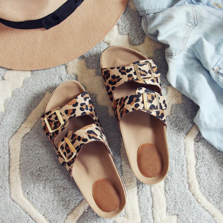 The sweetest footbed sandals for the summer...