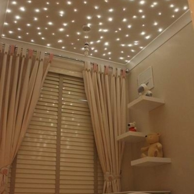 Star ceiling...love this idea for baby's room