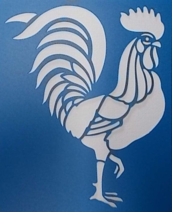 Rooster Stencil by kraftkutz on Etsy                                                                                                                                                                                 Mais