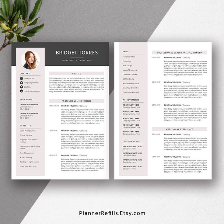 2019 Creative Resume Template Professional CV Resume Word