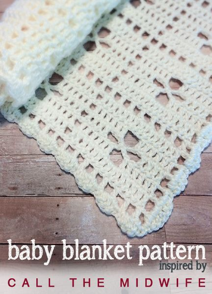 """Call the Midwife Inspired Vintage Baby Blanket   Free Crochet Pattern by Little Monkeys Crochet   This baby blanket is inspired by a blanket from BBC's """"Call the Midwife"""" Christmas Special. Free crochet pattern."""