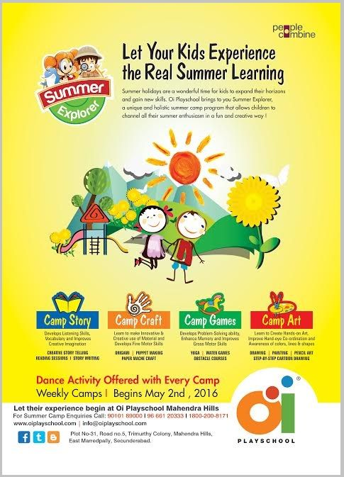 Summer camp @ Oi Playschool, Mahendra Hills