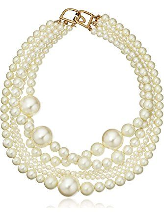 Kenneth Jay Lane Multi-Strand Faux-Pearl Necklace ❤ Kenneth Jay Lane