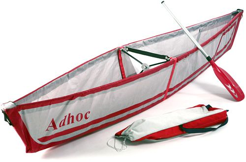 A foldable canoe - looks seriously cool. make for an easy way to get to fish for food.