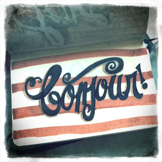 Bonjour! #lettering via letteringdaily.tumblr.com