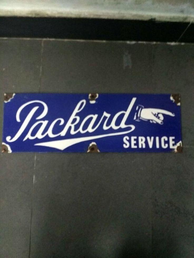 Packard Service Porcelain Enamel sign #Packard